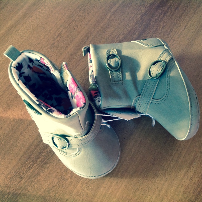 "No shopping trip is complete without some boots! Either for Mommy o""'''''''''"