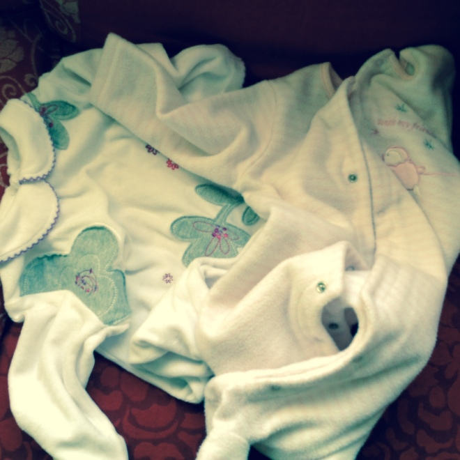 The basics- warm, fleecy nightsuits. Turns the little one into a cute, cuddly, live teddy bear!