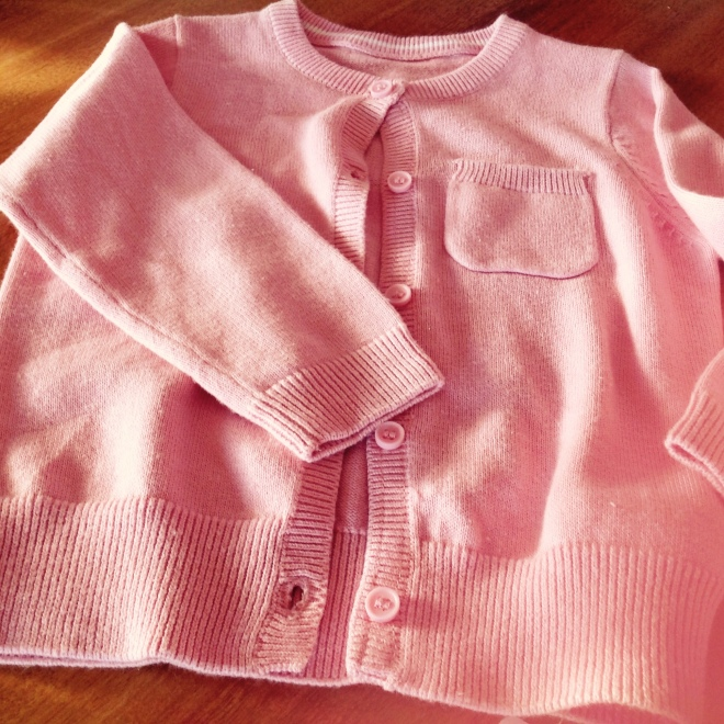 Another wardrobe staple.   A dusty pink. light cardigan.