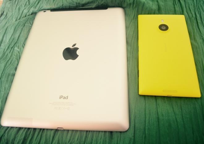 Size comparison...9.7 inch versus 6 inch.