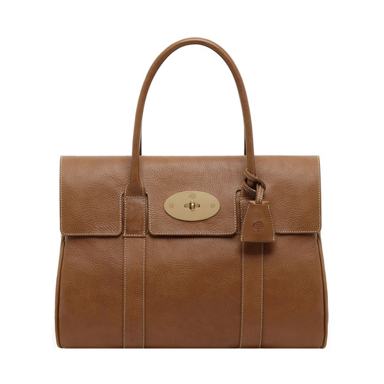 Mulberry - Bayswater Oak Natural Leather With Brass