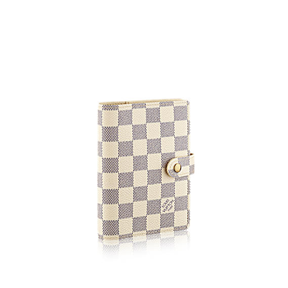 Louis Vuitton- Small ring agenda cover in Damier Azur Canvas