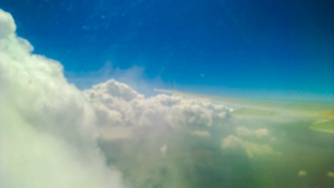 Cumulonimbus build- up-  the raison d'être for our turbulent flight. (Don't ask. We are into flying lingo as well!)