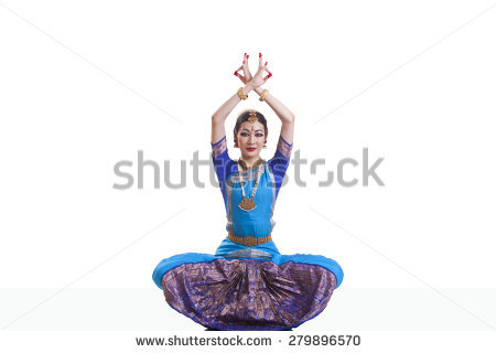 stock-photo-portrait-of-dancer-with-arms-raised-performing-bharatanatyam-isolated-over-white-background-279896570